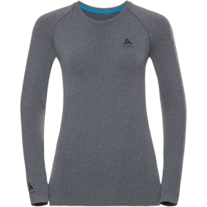 Damska koszulka Odlo SUW Top Crew Neck L/S PERFORMANCE Warm-Grey Melange-Black