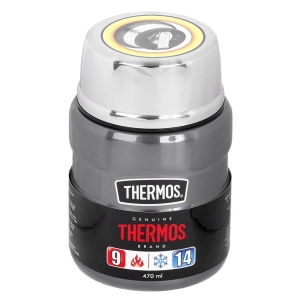 Termos  na obiad THERMOS King Food Jar 470ml Gun Metal