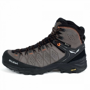 Trekkingowe buty męskie Salewa MS ALP Trainer 2 Mid GTX-Wallnut/Fluo Orange
