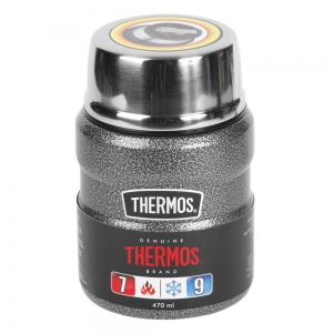 Termos THERMOS King Food Jar 470ml Hammertone Grey