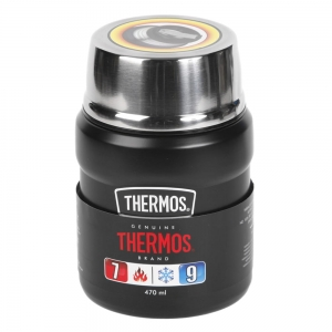 Termos obiadowy THERMOS King Food Jar 470ml Matte Black