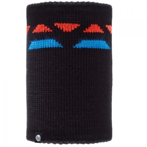 BUFF NECKWARMER KNITTED POLAR RIGER BLACK