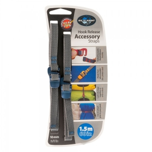 Pasy Sea To Summit Accessory Strap with Hook Buckle 10mm Webbing 1.5m Blue