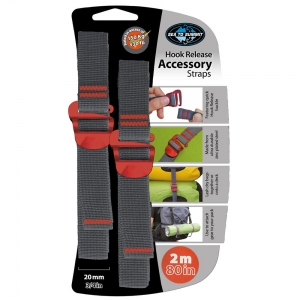Pasy Sea To Summit Accessory Strap with Hook Buckle 20mm Webbing 2.0m Red