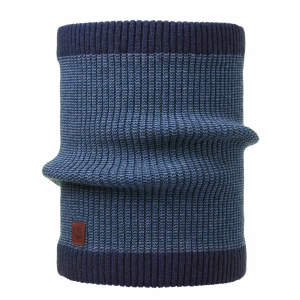 Komin Buff Knitted Neckwarmer Dee-Blue